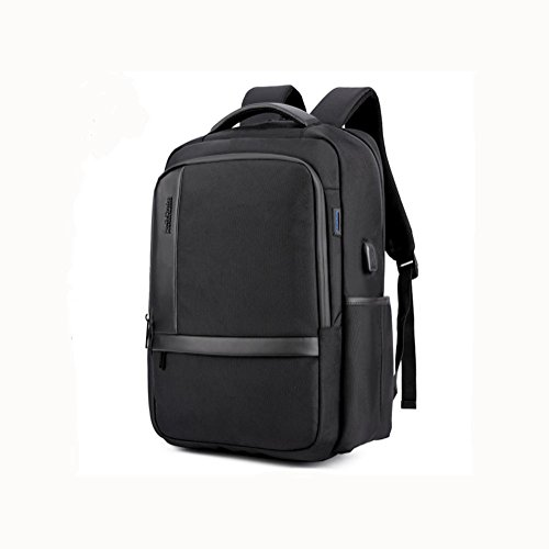 18 Black port Casual Waterproof USB charging Laptop inch Business Backpack Nylon Rucksack With w47q5CA