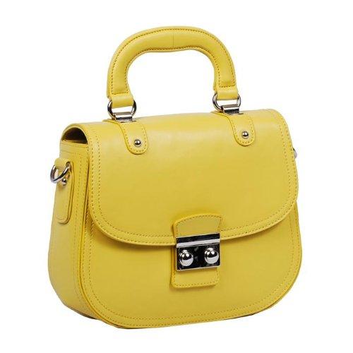 Designer Inspired Brietta Handbag – Yellow, Bags Central