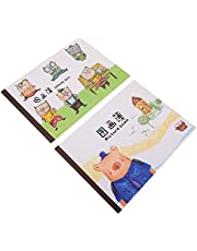 TOYANDONA 2pcs Sketch Book Portable Cute Kids Drawing Book Spiral Bound Artist Sketch Pad for Painting Drawing Writing Sketching Doodling