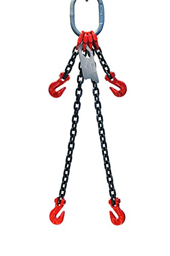 9//32 x 10 Double Leg with Grab Hook and Adjusters Grade 80 Chain Sling