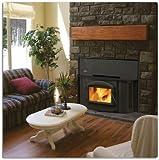 """Napoleon EPI-1402K 26"""" EPA Wood Burning Fireplace Wood Burning Fireplace with Heat Circulating Blowers Standard Flashing/Surround and Trim in Porcelain Enamel Black"""