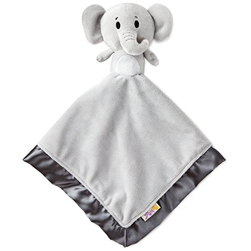 (Hallmark Easter Itty Bitty Stuffed Animal Plush Blanket, Baby Toys Toddler Toys, Noah's Ark Elephant Baby Lovey)