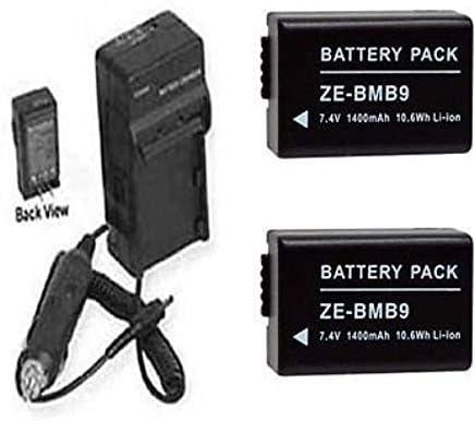 BP-DC9 BP-DC9E BP-DC9U バッテリー 2個 + 充電器 Leica V-LUX 2 Leica V-LUX 3用