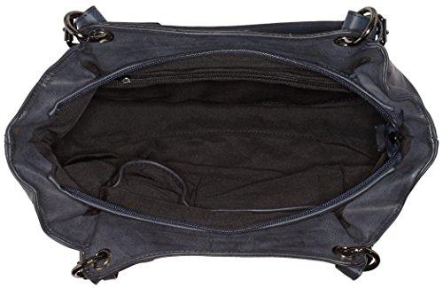 Remonte Damen Q0466 Schultertaschen, 34x27x13 cm Blau (14)