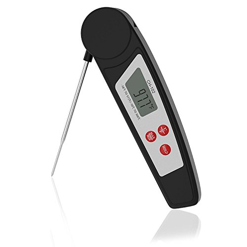 KUNSTWORKER Digital Meat Thermometers Instant Read Thermometer Cooking Thermometer IPX55 Waterproof Food Thermometer With LCD Display and Foldable Probe For BBQ, Kitchen, Barbecue, Grill Smoker