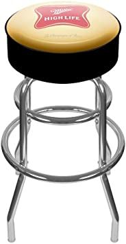 Trademark Global Miller High Life Logo Padded Bar Stool
