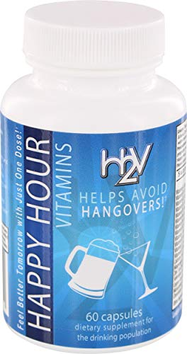 Happy Hour Vitamins -30 Servings Multivitamin for Hangovers & Liver Support - Easy as 1 Dose -Stop Looking for a Hangover Cure, Prevent Hangovers!