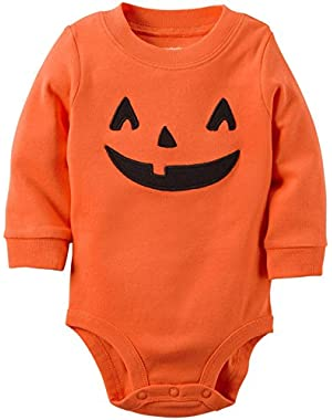 Carters Unisex Baby Clothing Outfit Halloween Pumpkin Bodysuit Orange