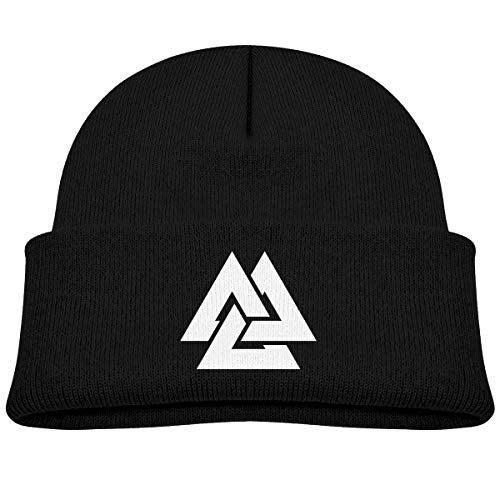 Valknut Viking Age Symbol Norse Warrior Unisex Baby Beanie Hat Toddler Infant Newborn Soft Knit Cap