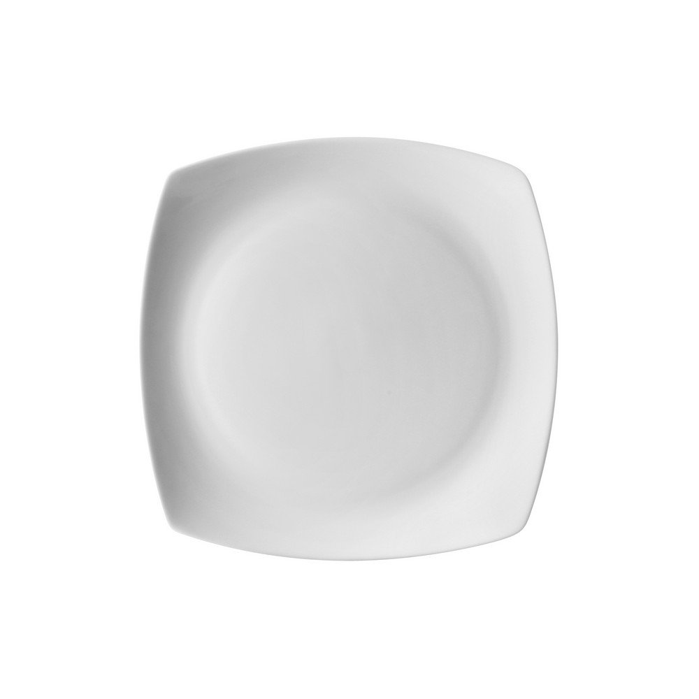 10 Strawberry Street Aurora Square 6'' Bread & Butter Plate, Set of 6, White
