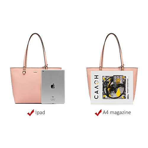 Satchel Handbags Women Purse Pink Tote for Shoulder 3pcs Bags Set Hobo AAPwqSXx