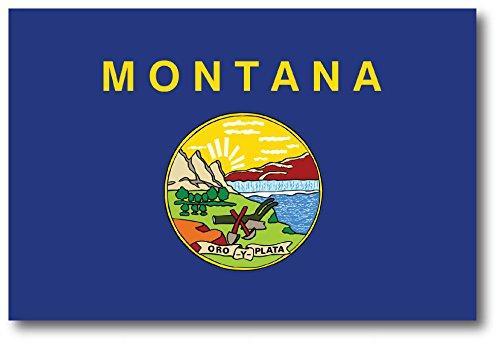 Montana Car Magnet US State Flag Refrigerator Locker SUV Heavy Duty Waterproof…