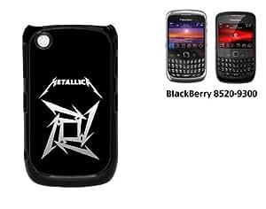 Black Berry Curve 8520 Hard case With Printed Design Metallica