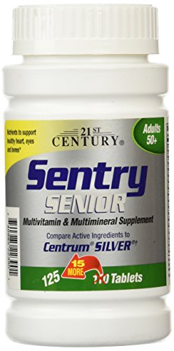 21st Century Sentry Senior Tablets, 125 Count