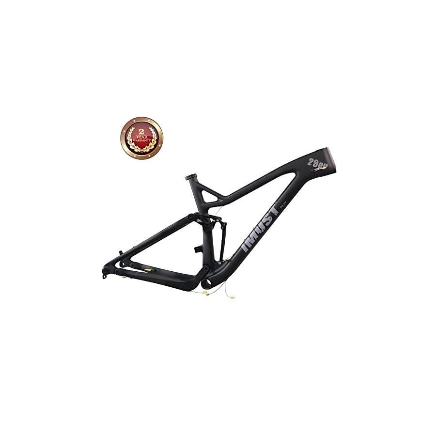 IMUST Carbon 29er Full Suspension XC frame/Trail frame XC29 BB92 Rear 12x148mm 18.5 inch