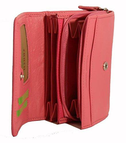 X 9 Rose Portefeuille Vachette Cartes Pression Cm Vanity Clair 12 A Bouton Pleine Cuir Porte rouge Fleur Monnaie 7fqfXPnawx