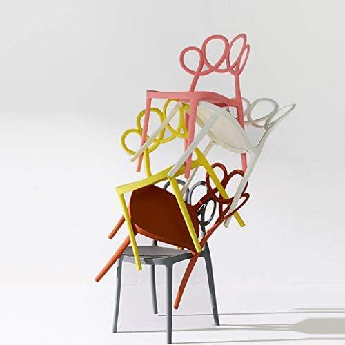 HLQW Chaise de salle à manger minimaliste moderne rose chaise en plastique chaise nordique Restaurant Creative Ins Home Fashion Coffee