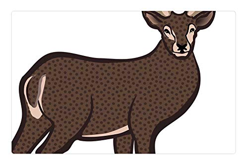 Short Stag - Tree26 Indoor Floor Rug/Mat (23.6 x 15.7 Inch) - Animal Deer Hirsch Short ABC Pictures Stag