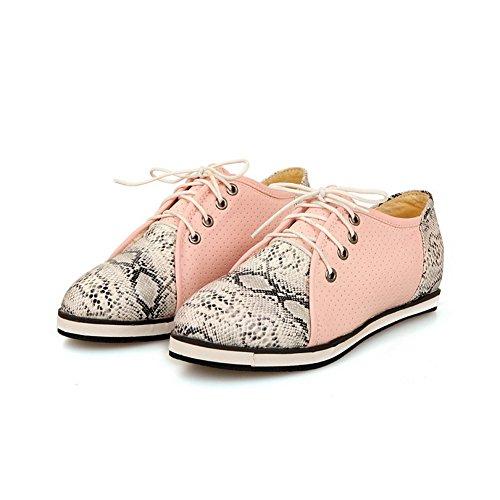 balamasa Rose lacets pour couleurs souple Motif assorties python femme shoes à Matière flats fBf6cAwr4