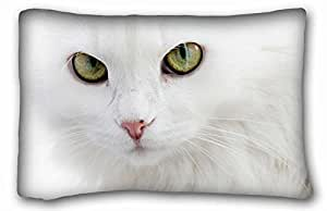 Custom Animal Custom Cotton & Polyester Soft Rectangle Pillow Case Cover 20x30 inches (One Side) suitable for California King-bed