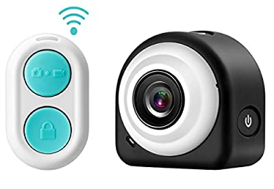 GooDee® Mini HD 1080P WiFi Action Sports Camcorder With 2.4G Remote Control Magnetic/Sticky Mounting (Black))