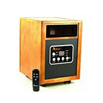 Modern Infrared Heater 1500W, Advanced Dual Heating System, Furniture-Grade Cabinet, Remote Control | Contemporary Home Indoor Space Heater Provides Warmth Throughout Your House
