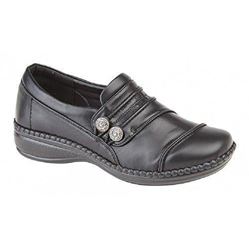 Boulevard - Zapatos de vestir de Material Sintético para mujer negro negro 36 37 38 39 40 41 42 EU