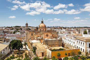 Con vistas a Jerez de la frontera con de la Catedral, de la ...