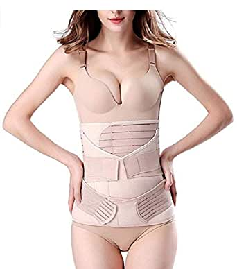 3 in 1 Postpartum Support Recovery Belly Wrap Waist/Pelvis Belt Body Shaper Postnatal Shapewear-C-Section (large)