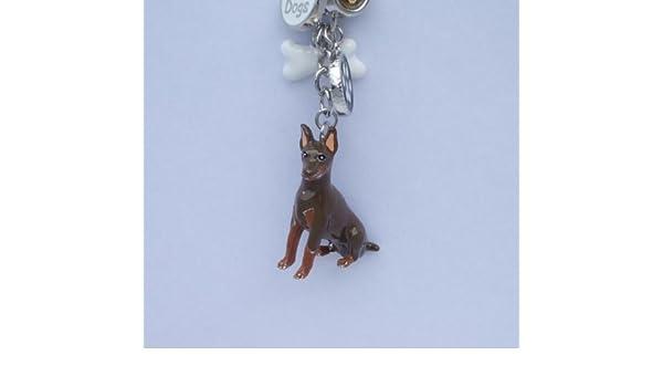 I Love My Dog Doberman - Llavero con diseño de perro de ...