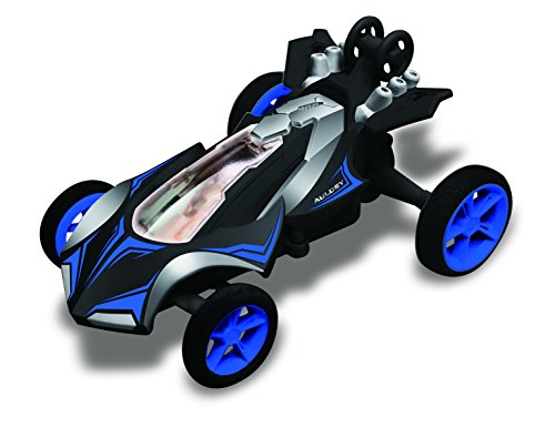 Race - Tin Micro Stunt Racer, 1:32 Scale, Blue Vehicle