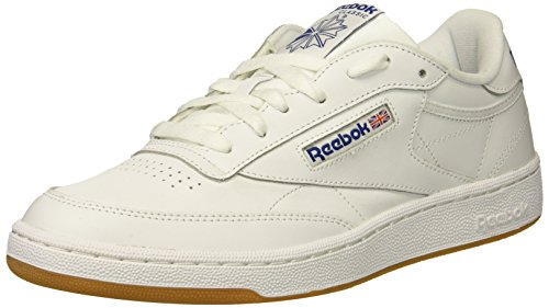 (Reebok Men's Club C 85 Sneaker, White/Royal-Gum, 5 M)
