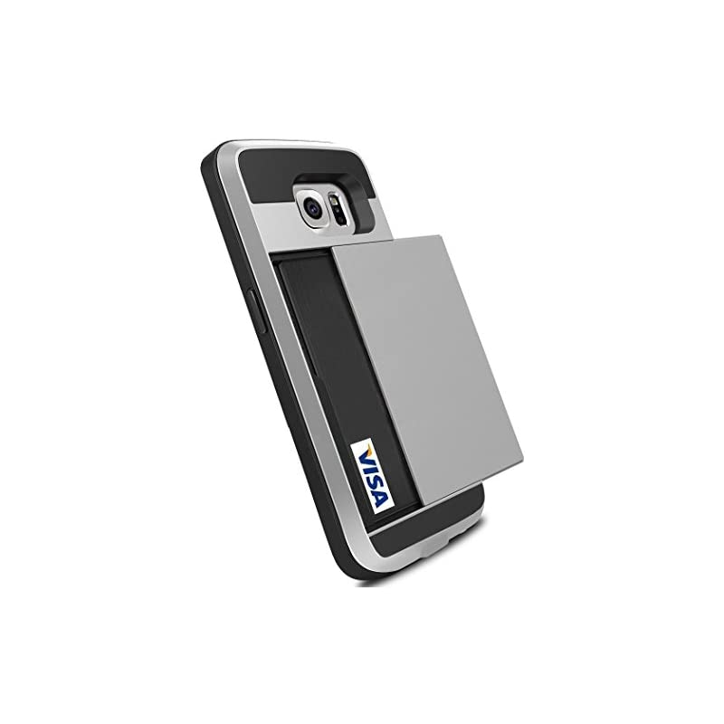 Galaxy S6 Case, Anuck Slidable ID Card S