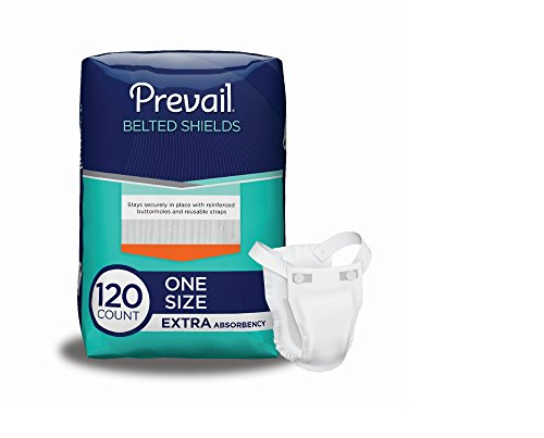 Prevail Extra Absorbency Incontinence Belted Shields, 120 Total Count by Prevail (Image #6)