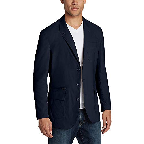 Eddie Bauer Men's Voyager 2.0 Travel Blazer, Navy Regular 46 (Travel Sport Coat)