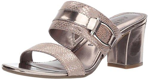 Anne Klein Kvinna Natalie Tyg Sandal Metalliskt Taupe Multi Tyg