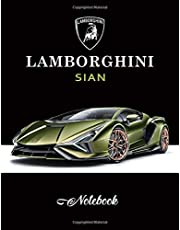 Lamborghini Sian Notebook: Unlined Notebook, Blank Paper for Drawing, Doodling or Sketching, Writing White Paper, 8.5 x 11