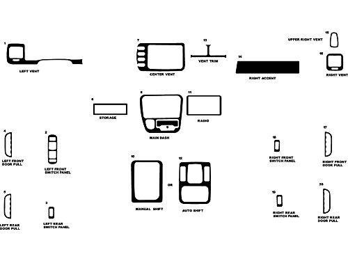 Rdash Dash Kit Decal Trim for Chevrolet Tracker 1999-2002/ Geo Tracker 1999-2000 - Sticker Bomb (Venice Beach)