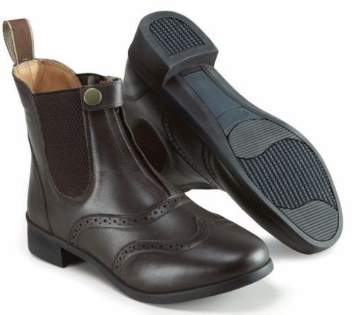 Ladies Eston Paddock x Hall 7 Brown Harry Size Boots Leather XZgqI