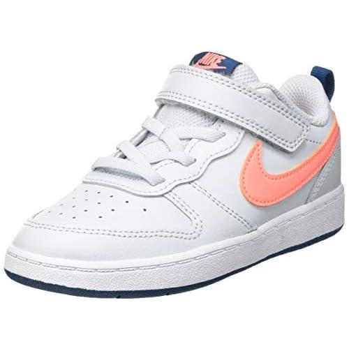 chollos oferta descuentos barato Nike Court Borough Low 2 TDV Sneaker Pure Platinum Atomic Pink Valerian Blue 25 EU