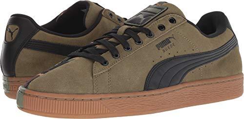 PUMA Men's Suede SP Burnt Olive/Puma Black 14 D US (Men Brown Shoes Puma Suede)