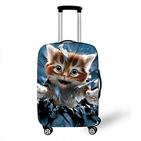 4, M Cartoon Animal Unicorn Luggage Cover Protective Travel Accessories Waterproof Thicken Elastic Suitcase Trunk Case 18-32 Inch XL