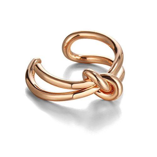 Rurah Women Twist Braid Style Ring or Pinky Ring,Gold color (Ring Pinky Wear)
