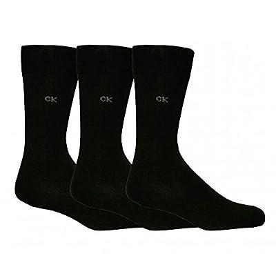 Calvin Klein 3-Pack Flat-Knit Men's Socks, Black