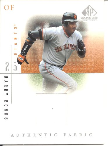 2001 Barry Bonds - Barry Bonds 2001 SP Game Used Edition Authentic Fabric Jersey Card San Francisco Giants