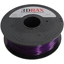 3DRAX 3D FILAMENT PURPLE HAZE PLA(PLUS)-1KG (2.2 LBS) - NEXT GEN FILAMENT PROFESSIONAL 1.75 +/- 0.05 mm Accuracy-Color- Purple Haze PLA
