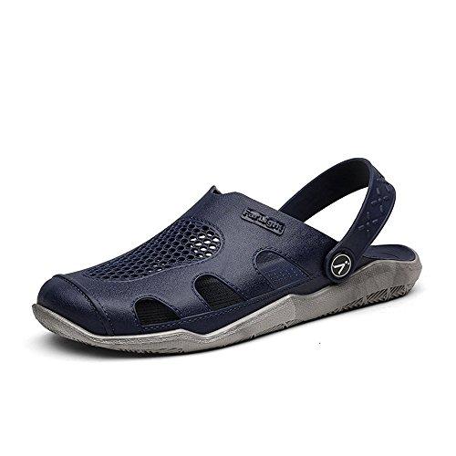 Vamp Ciabatte Jiuyue Trend 42 Blue Slip Tacco da Gray Sandali shoes da piatto Hollow bianco On Dimensione Scarpe Color uomo da uomo Outdoor EU Nero spiaggia S5wnqr0CBw