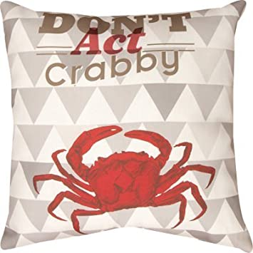 Manual Don t Act Crabby Climaweave Outdoor Pillow