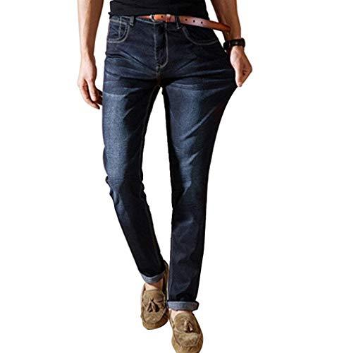 Casuali Slim Jeans Formato Nero Dritte Casual Gambe Uomini Stretch Grande Moda Pantaloni Giovane d6cPTwSFq