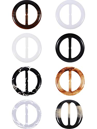 (Plastic Round Elegant Tee Shirt Clips, Scarf Clips, 2 Inches, 8 Colors, 16 Pieces (Color A, Size A) )